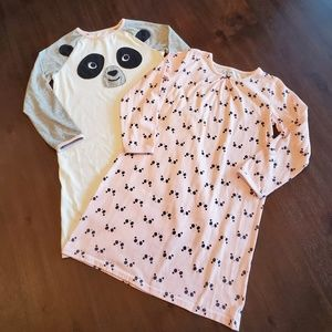 Carter's 2 pack of panda nightgowns size 6